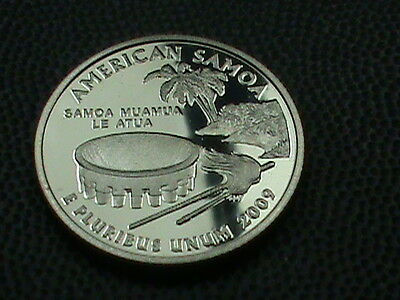 UNITED STATES    25  Cents    2009  -  S    PROOF  ,   AMERICAN  SAMOA