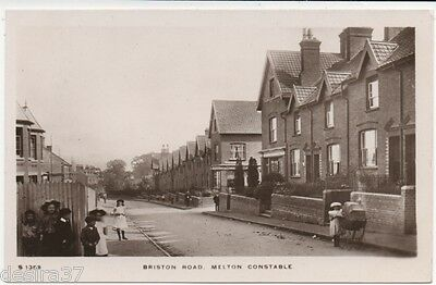 Norfolk Postcard Melton Constable Briston Road Children In View Early Real Photo