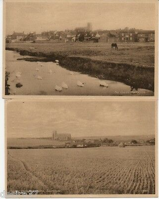 Norfolk Postcards Salthouse Church From Heath & The Green 2 Posted Postcards