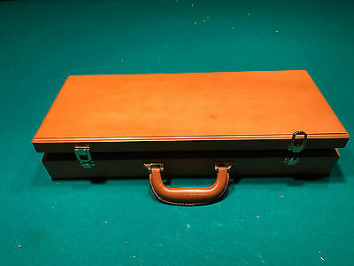 Professional poker chip collection wood box / case VINTAGE  500 Chip Storage