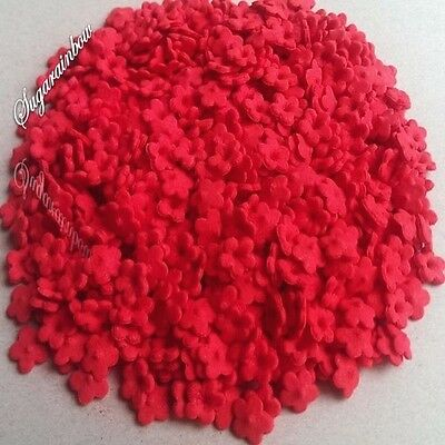500 Edible sugar flowers red cake cupcake toppers decorations