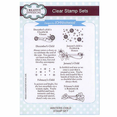 Creative Expressions A5 Clear Stamp Set - CEC743 WINTER'S CHILD **NEW**