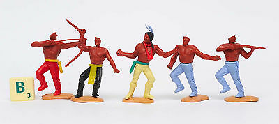 Vintage Timpo Red Indians Toy Soldiers Cowboys Plastic Indian Horses Spare