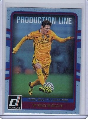 2016 Donruss Soccer Production Line Holographic Insert #10 Lionel Messi