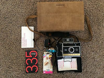 Vintage Polaroid Instant 335 Automatic Land Camera w/ case - VERY NICE