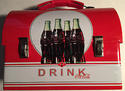 "Coca Cola Tin Workman's Domed Carryall - Lunchbox 7"" x 5.5"""