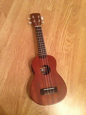 Laka Soprano Ukulele with Built-in Tuner and bag