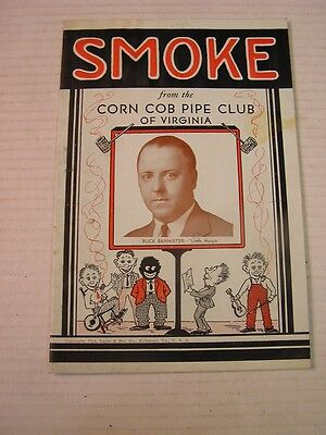"1934 ""Smoke"" Corn Cob Pipe Club of Virginia Magazine, 16 Pages Complete"