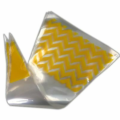 Yellow Funky Cone Sweet Bags Party Favours Cello Bag