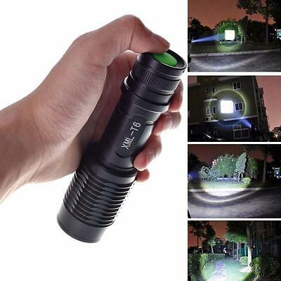 4000LM Zoomable Cree XML T6 LED 5 Modes Police Flashlight Lamp Torch Outdoor UK