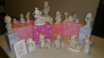 Precious Moments Figurines Lot of Older Pieces Some In Original Boxes