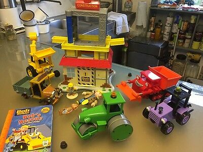 Bob the Builder Friction Powered Vehicles Construction Site Figures