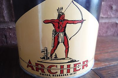 Original ARCHER Snowmobile Outboard Oil Can - Quart METAL Full Unopened