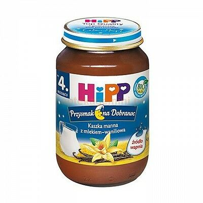 HiPP GOODNIGHT Organic Baby meal with WANILLA -from the 4th month -Exp.1.2017