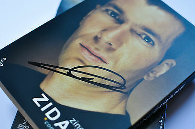 Zidane Real Madrid Dvd Hand Signed With Photo Proof