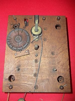 1825-1835  Excellent Looking  Wood Wooden Works Weight Clock Movement
