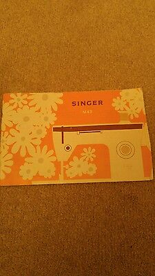 Instructions for singer sewing machine m43