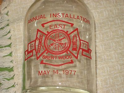 A Commemorative Carafe from 1977 East Brentwood NY Fire Dept.