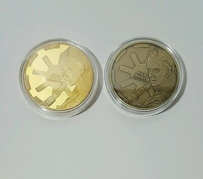 Set of 2 x Star Wars The Force Awakens Challenge Coins