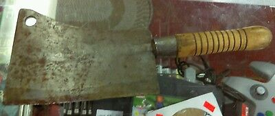 Antique FULTON TOOL CO Butcher's Large Meat Cleaver