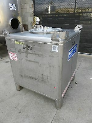 300 gallon stainless Hoover tote tank