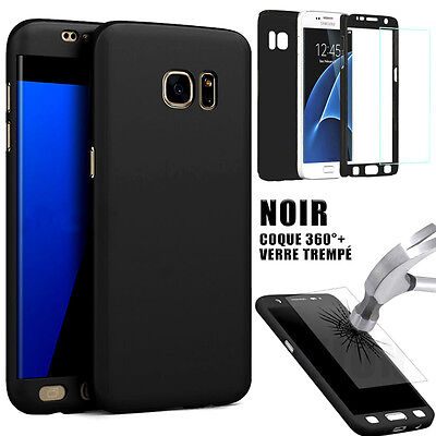 COQUE 360 PROTECTION SAMSUNG S8 S9 Plus S6 S7 A6 A7 A9 J5 J6+ FILM VERRE TREMPE