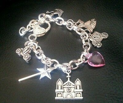 Girls fairytale charm bracelet christening Birthday gift box keepsake princess