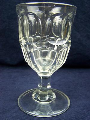 Substantial late 19th cent dimpled pub ale glass