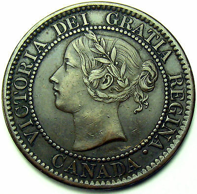 1859 Canada Large Cent, Narrow 9, Doubled 8