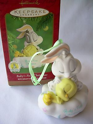 2001 Hallmark Ornament Baby's First Christmas Baby Looney Tunes