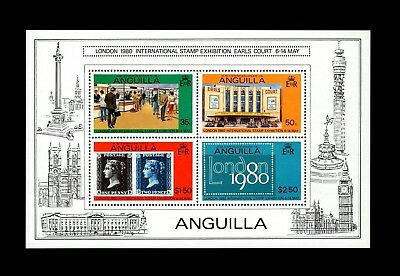 Anguilla - 1979 - London '80 - Penny Black - Earls Court - Mint S/sheet!