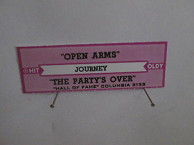 Journey - Open Arms + The Party's Over   jukebox strip