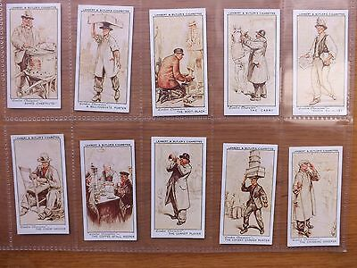 LONDON CHARACTERS - LAMBERT & BUTLER - Complete Set of 25 - 1934 - EX/EX+