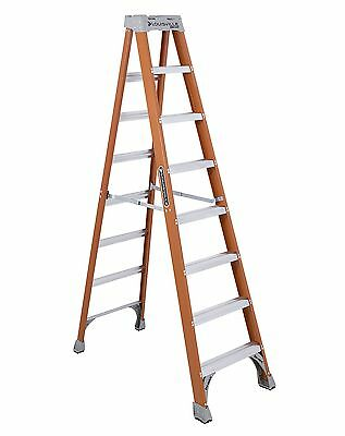 Louisville Ladder FS1508 8-Foot Duty Rating Fiberglass Step Ladder, 300-Pound
