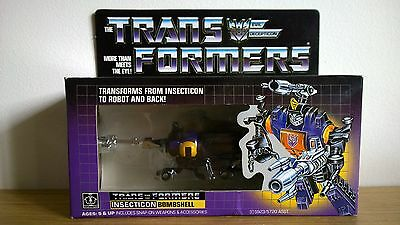 Transformers G1 Decepticon Insecticon MISB Bombsell. Genuine.