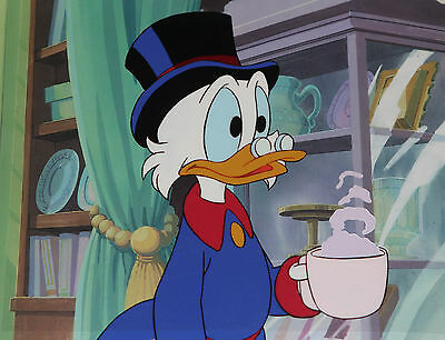Scrooge McDuck Hot Chocolate Mug Disney DuckTales Production Animation Cel