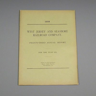 1918 annual report - West Jersey & Seashore Railroad - WJ&S - Atlantic City