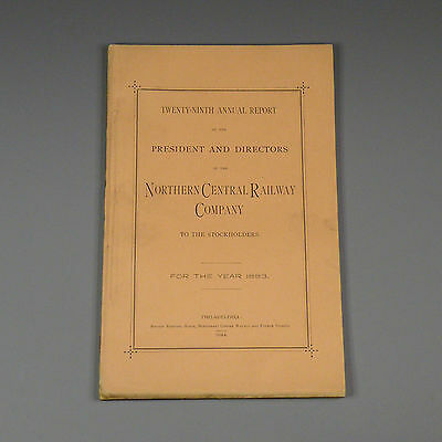 1883 annual report - Northern Central Railway - Maryland, Pennsylvania