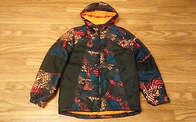 Youth Athletch Abstract Pattern Winter Snow Jacket Size Large 10/12 Kids Coat