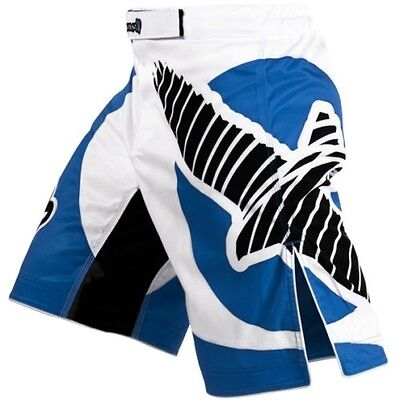 Muay Thai Shorts Technical Performance Falcon Competition MMA Boxing Blue
