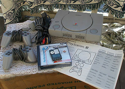 Vintage Playstation PS ONE PS1 Video Game System Console Manual Bundle Complete
