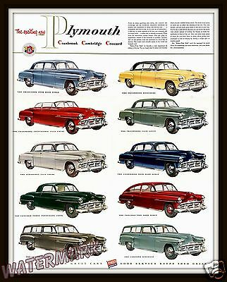 Wall Art   1951 Plymouth Advertisement Poster  11x14