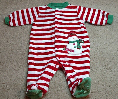 Carter's Baby Long Sleeve Footed Sleeper Pajamas Size 3 Months