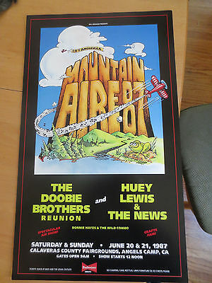Bill Graham Presents Doobie Brothers Huey Lewis News Mountain Aire 87 Poster