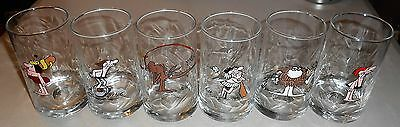 B.C. Ice Age Comic Strip - Set of 6 - 1981 Collector Series Glasses from Arby's