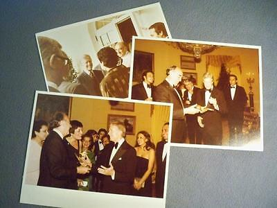 Vintage Lot Of 3 Color 8X10 White House Photos Of President Carter