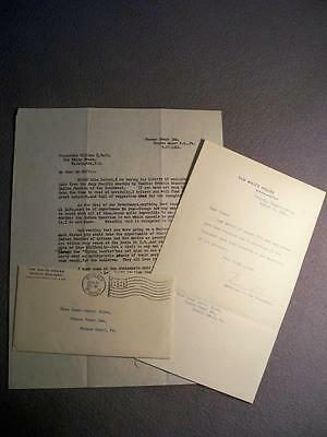 Vintage Pueblos 1911 Letter To President William Taft & Reply By Charles Hilles