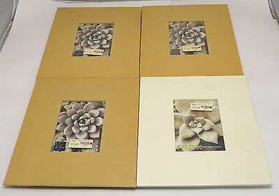Lot of 4 FRAMATIC METRO WIDE 5x7 photo frames 3 Natural 1 White NEW old STOCK