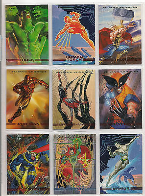 1993 Marvel Masterpieces Series 2 Complete Card Set Nm + She-Hulk Prototype Card