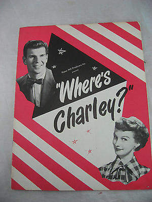 Where's Charley Souvenir Program Paper Mills Producers Inc.N.Y